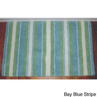 tommy bahama breeze stripe cotton 21 x 34 bath rug | overstock