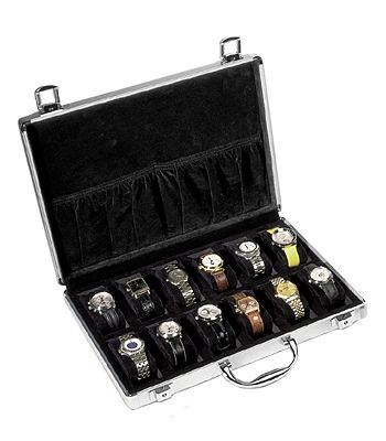 e504e76f5c4 Orbita Lugano 12 Aluminum Watch Box Travel Case W81002  orbita  travel   watchcase  safe