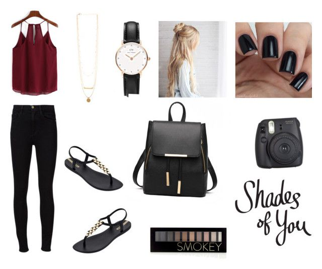 """""""Untitled #34"""" by melodicpoet on Polyvore featuring Frame Denim, IPANEMA, Daniel Wellington and Forever 21"""
