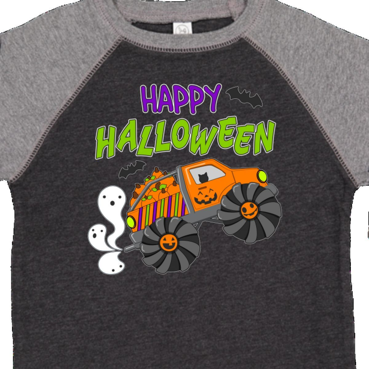 inktastic Trick or Treat Boy with Pumpkin and Black Hair Baby T-Shirt
