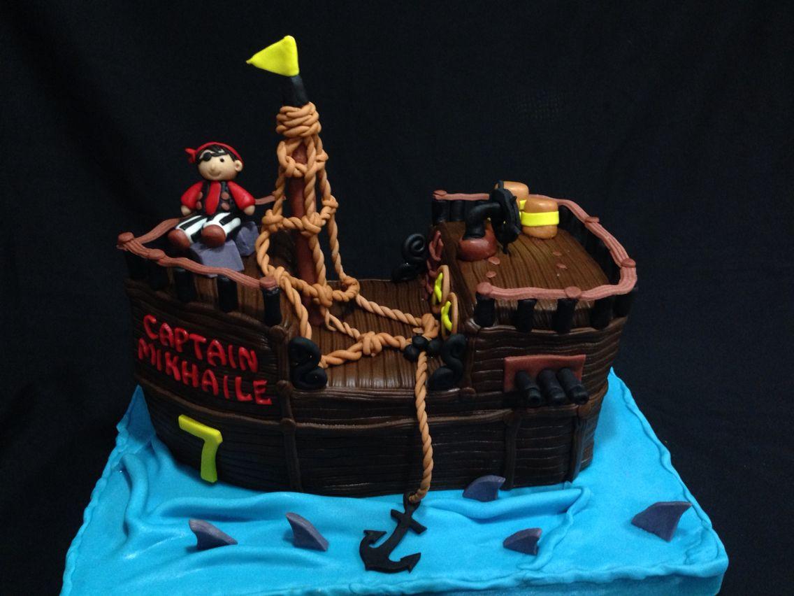 Pirate ship birthday cake LA Cakes Pinterest Pirate ships