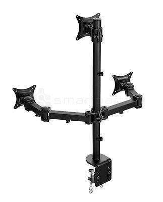 Details About Lavolta Triple Monitor Mount Stand Arm Desk