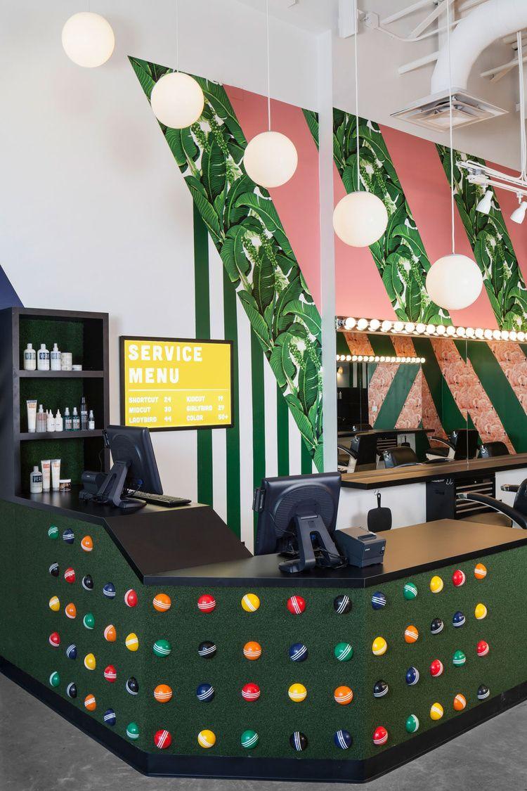 Barbershop The Domain Markodomstudio Barber Shop Space Interiors Astro Turf