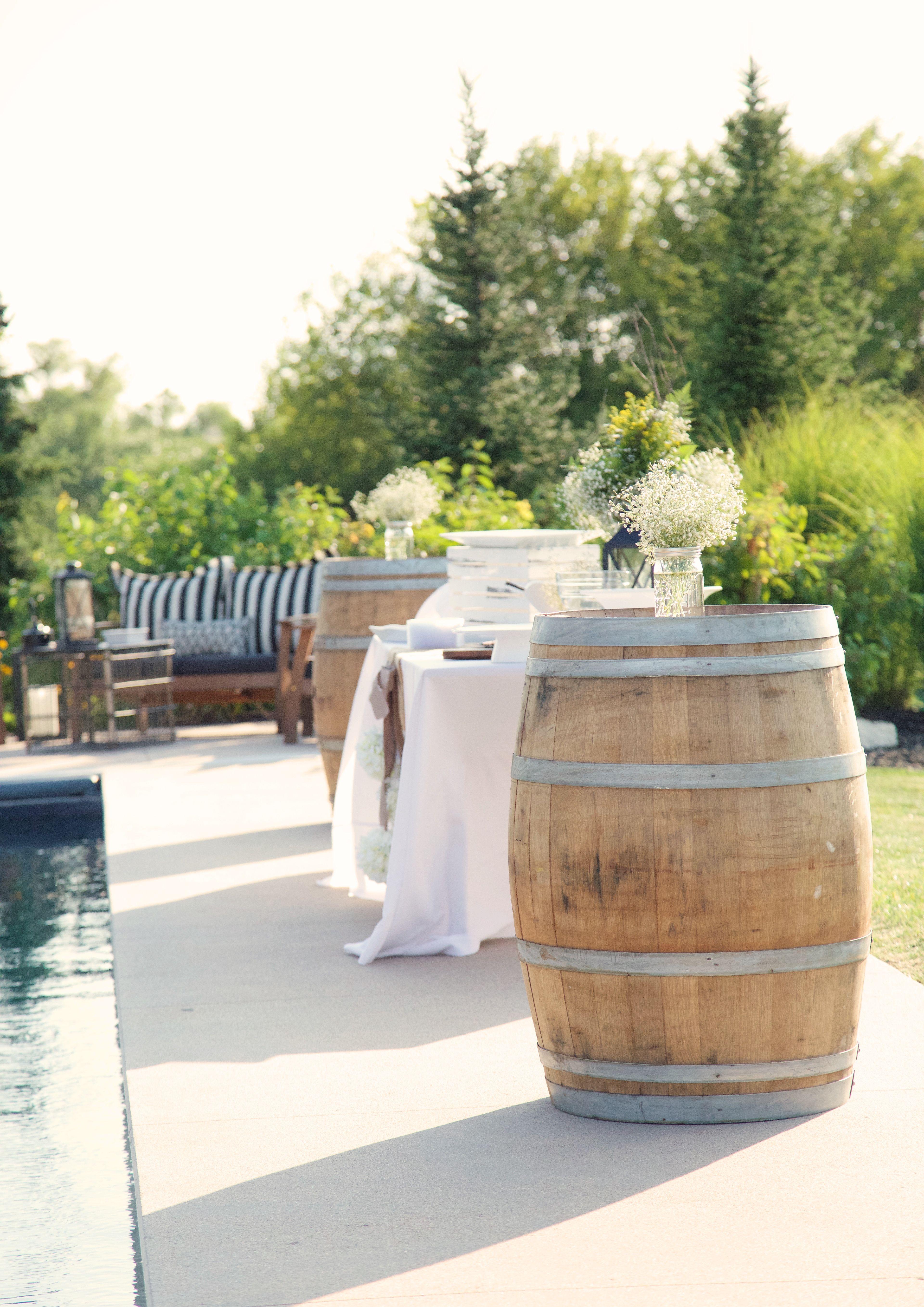 used wine barrel furniture. Appetizer Table \u0026 Wine Barrels Used As Cocktail Tables Barrel Furniture