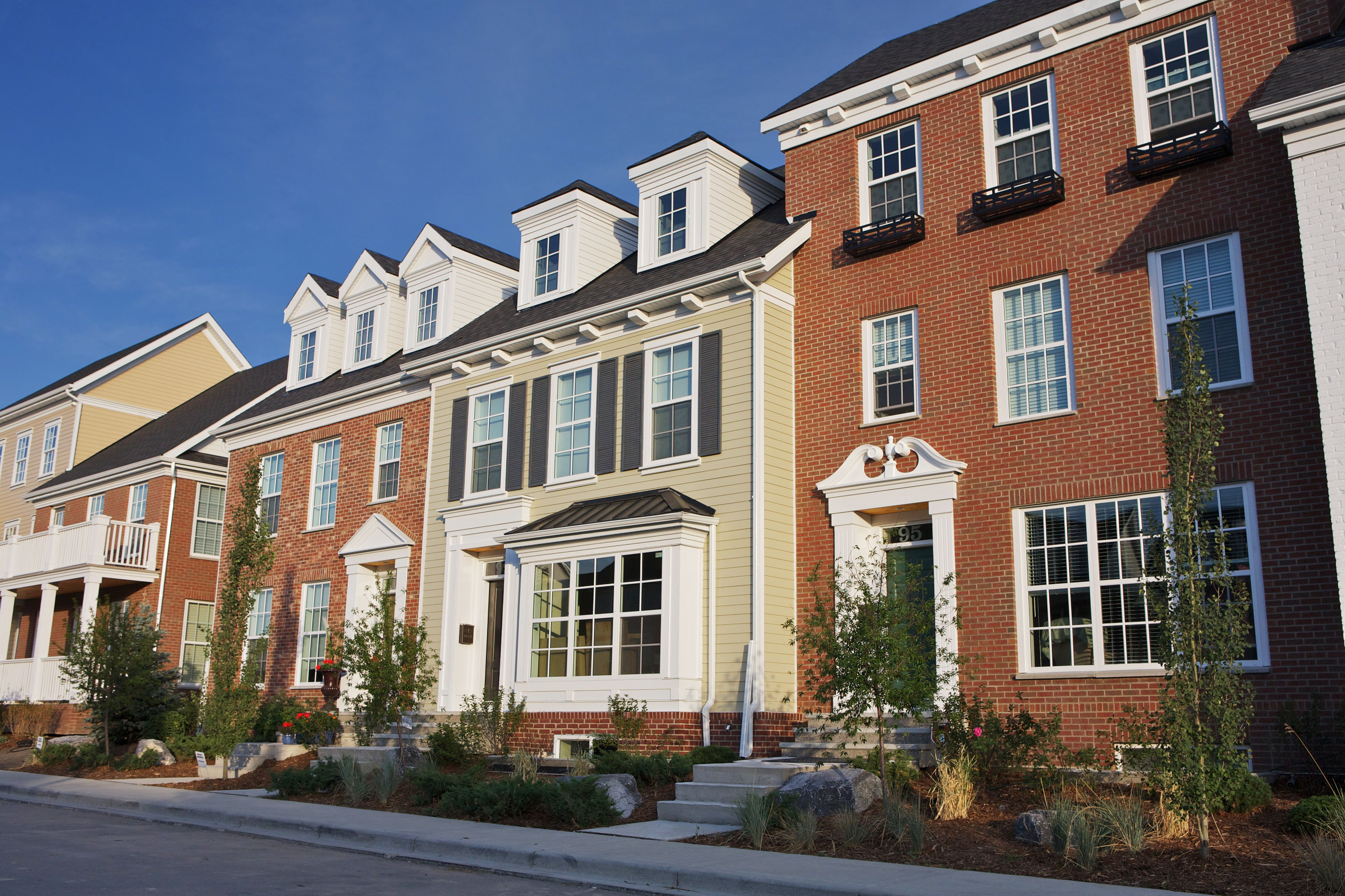 Colonial Homes With Dormer Windows Custom Window Boxes James Hardie Siding And Brick Victoria Cross Townhomes Townhouse Cottage Style Homes Colonial House