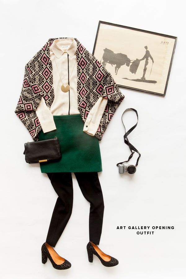 3 Party Outfits from Golden Tote (I like how they laid out and photographed  the