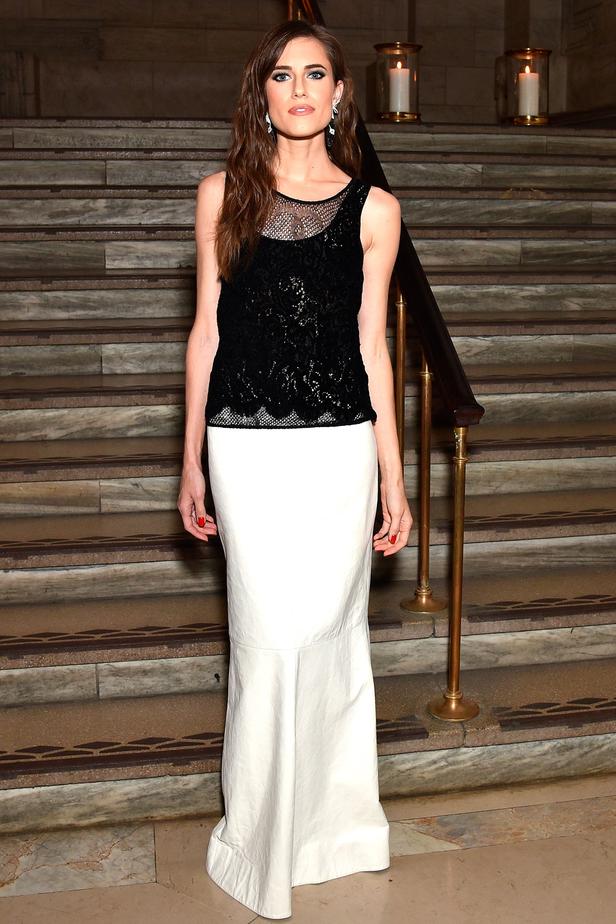 Allison Williams at Chanel'sFine Jewelry Dinner at The New York Public Library on June 2, 2016