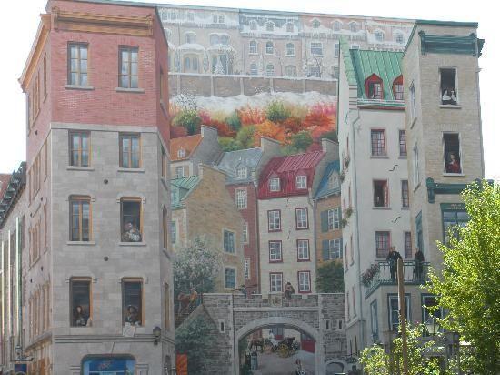 Building Mural in Old Quebec, Quebec City