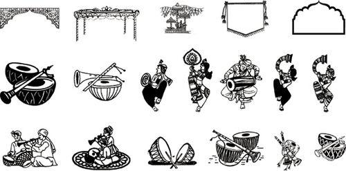 Hindu Wedding Clipart Fonts Free Download ClipartXtras     download