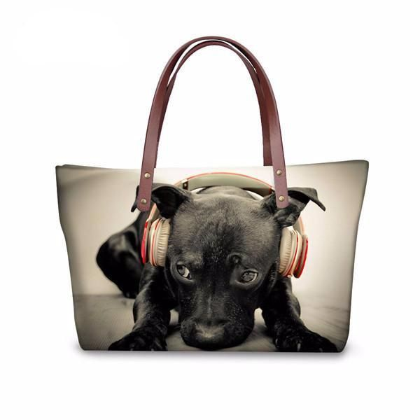 Fabulous Tote Bags With Dog Print - Custom Design Available!