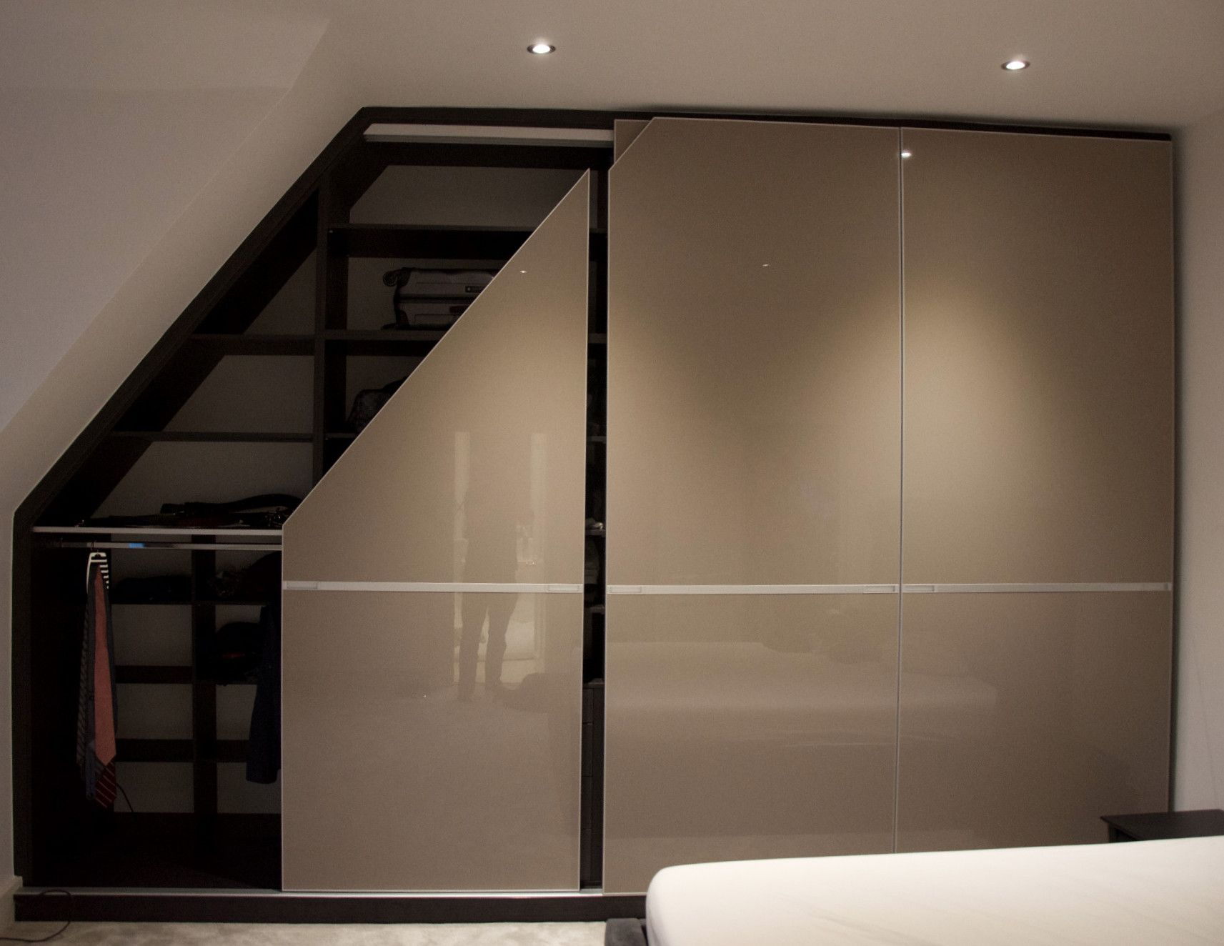 Stunning Bespoke Sliding Wardrobe For Loft Room Designed With