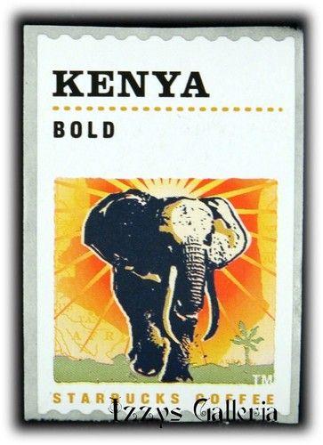Starbucks Coffee Retired Kenya Bold Seals Stickers Stamp RARE | eBay
