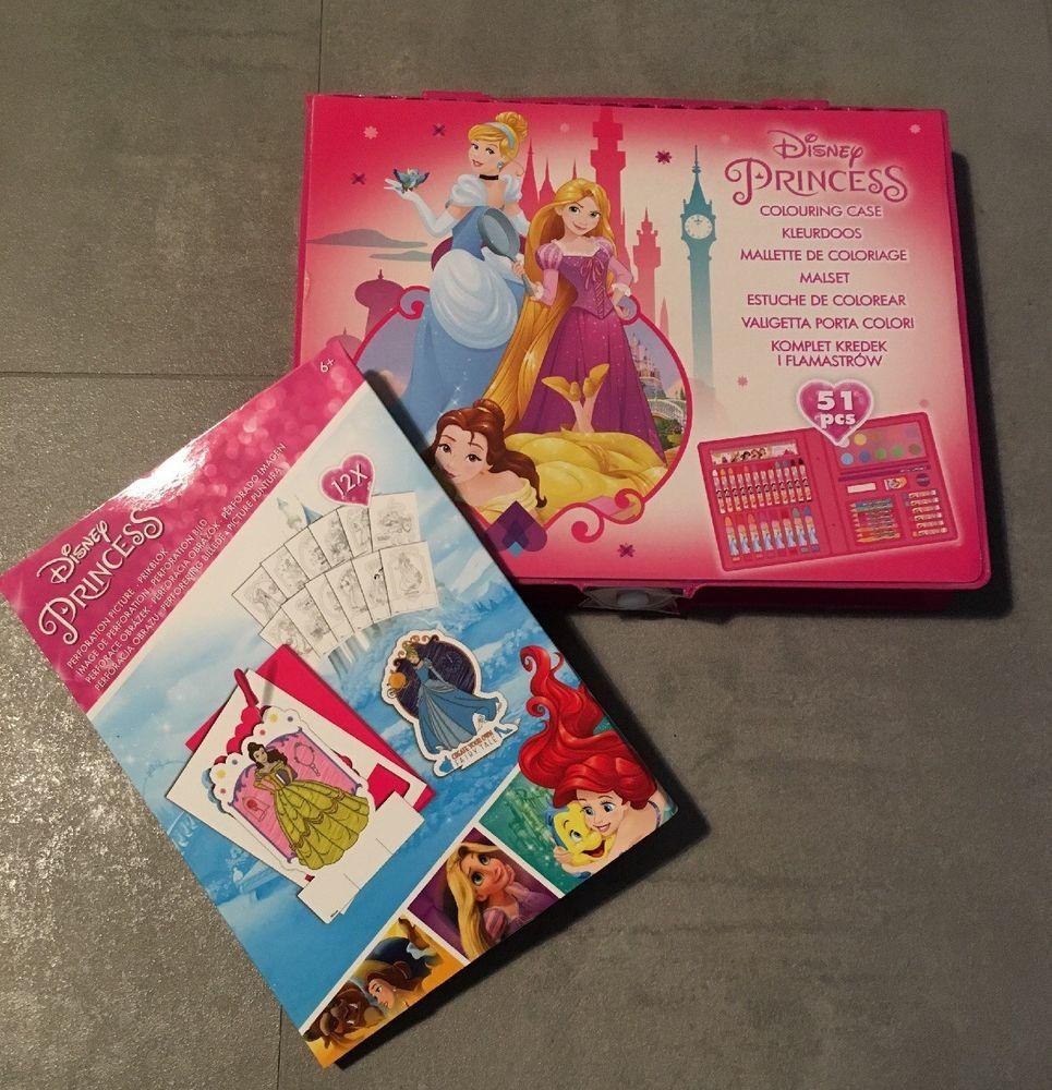 Disney Princess Malkoffer Set 24tlg Stift Malkasten Prickeln
