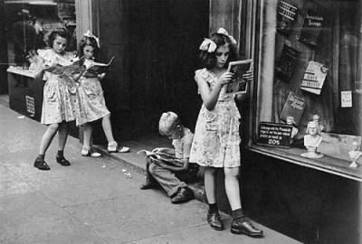 Comic Book Readers New York 1947 Via Comicallyvintage I Want