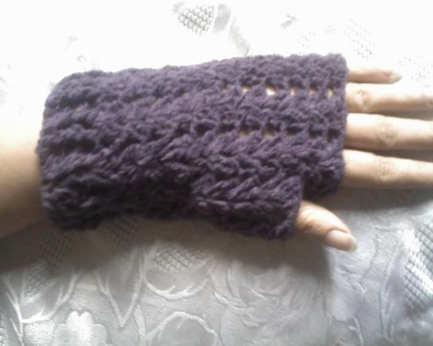 Guantes sin dedos crochet - Imagui   hırka   Pinterest   Guantes sin ...