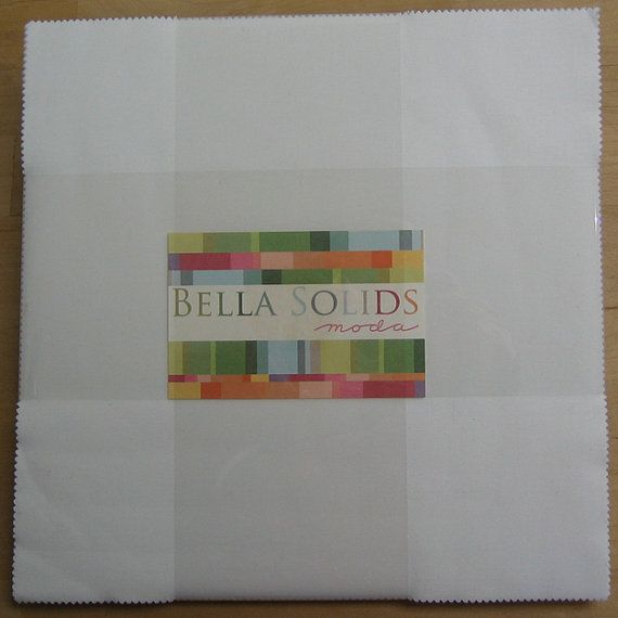 Bella Solids White Layer Cake Moda Fabrics 10 Inch Squares Quilting Precut 9900 98 Lc White Layer Cake Fabric Squares Layer Cake Fabric