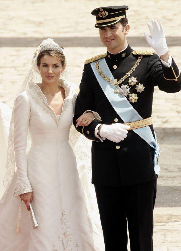 Prince Felipe de Bourbon dari Spanyol dan Princess Letizia Ortiz ...