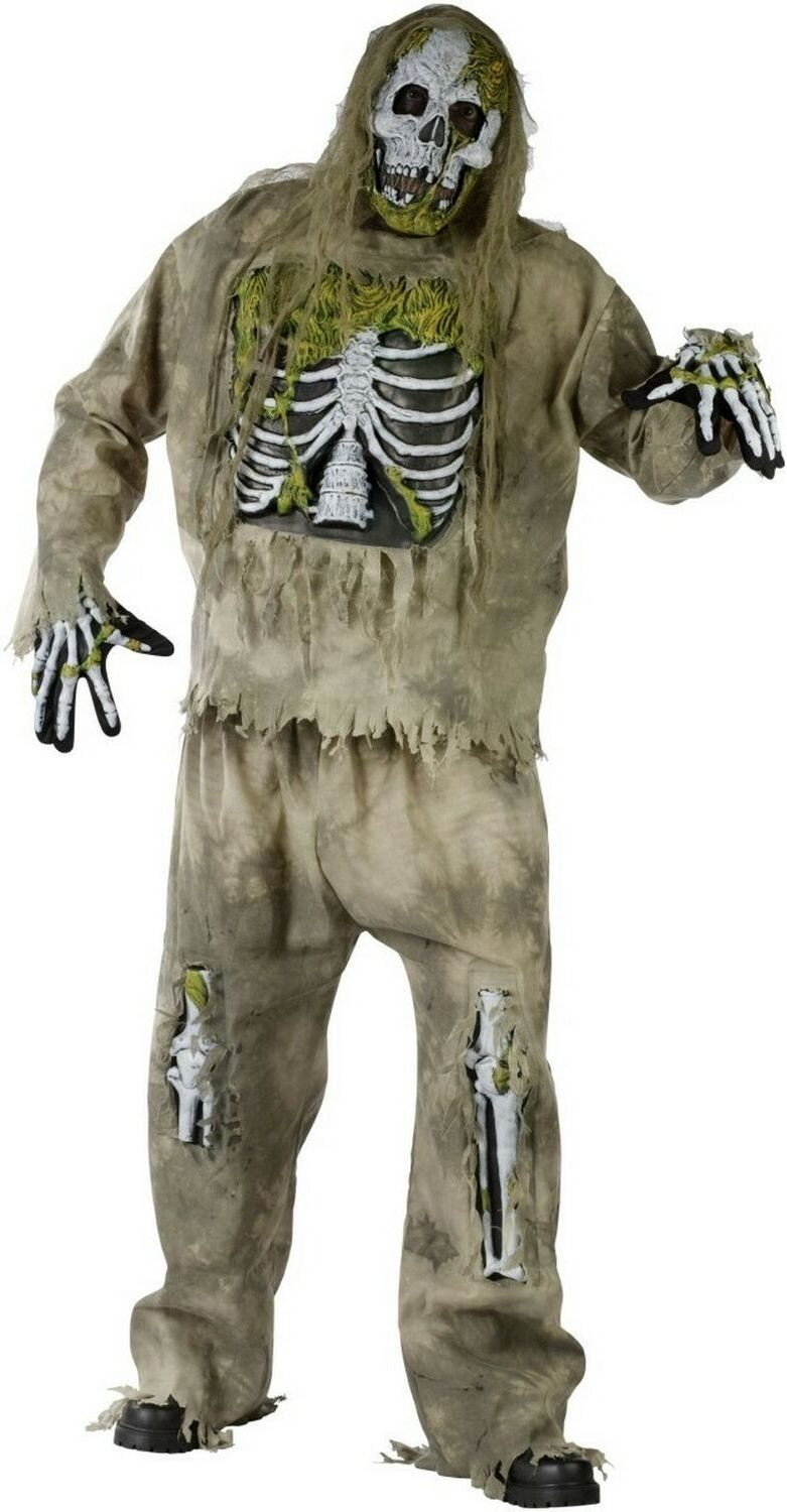 Skeleton Zombie Adult Plus Size Costume Zombie halloween