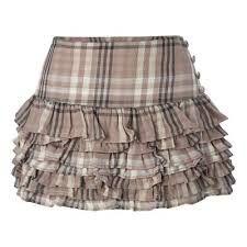 tartan ruffle skirt - fun!