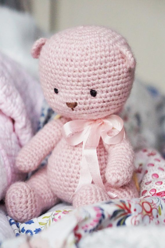 Little Teddy Bear toy / Crochet Pattern pdf (US - DE - Dutch - French) - amigurumi pattern toy / animals by Polushkabunny #beartoy