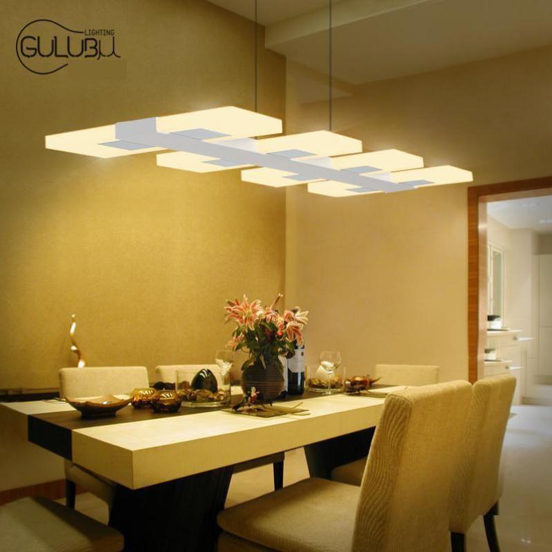 Cheap 6/8 luci della cucina led illuminazione lampadario acrilico ...