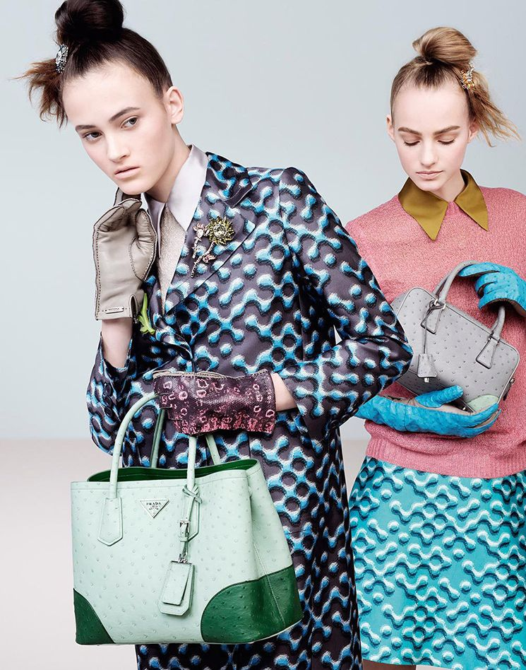 Prada Fall Winter 2015 Ad Campaign Featuring The Inside Tote Bag