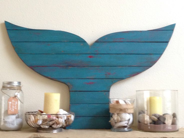 Moving Sale! Pallet Whale Tail, surf decor, whale decor, rustic beach decor, mermaid tail, coastal decor, mermaid sign #mermaidsign