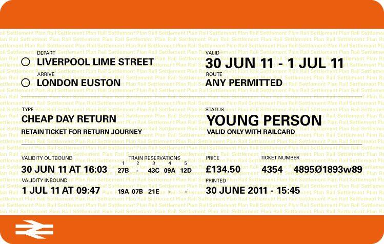 Train Ticket Template   Train tickets, Vintage train ticket ...