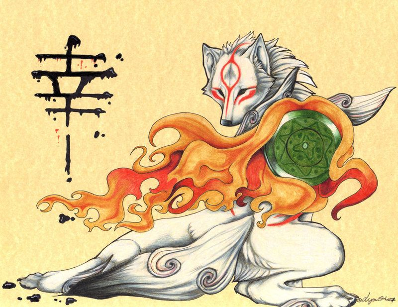 Amaterasu From The Game Okami By Lyanti On Deviantart Okami