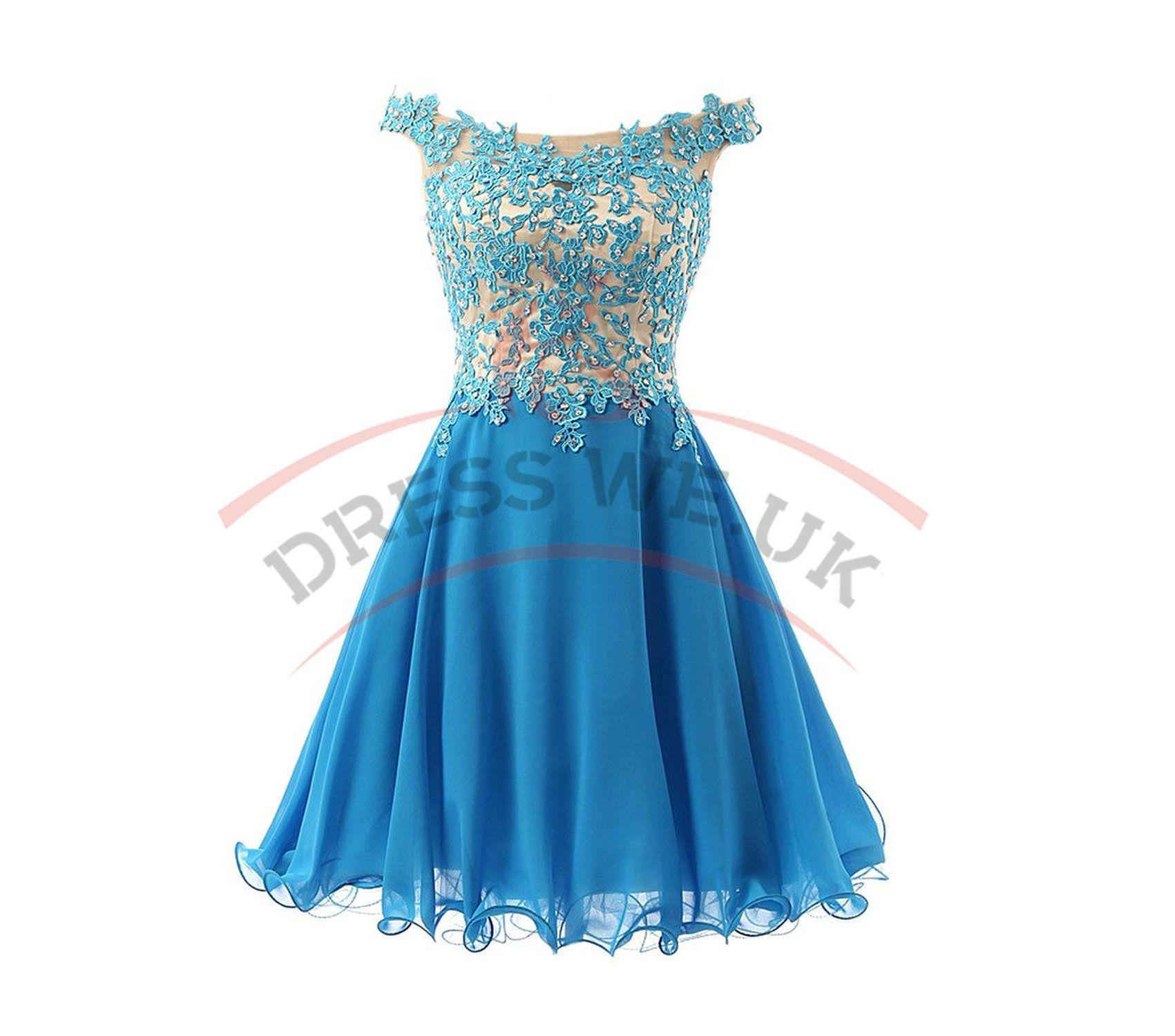 Pretty Straps Lace Party Dresses,Bodice Party Dresses,Short Party ...