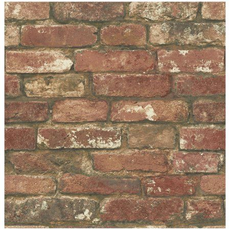 Nuwallpaper West End Brick Removable Peel And Stick Wallpaper Walmart Com Red Brick Wallpaper Brick Texture Brick Wallpaper