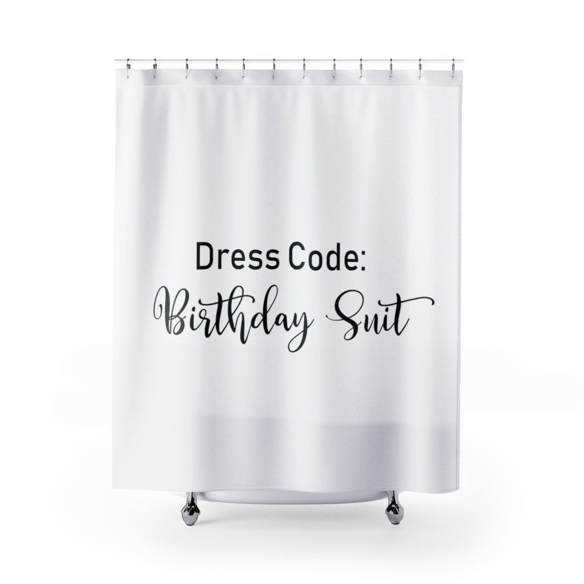 Dress Code Birthday Suit Shower Curtain Cool Shower Curtains