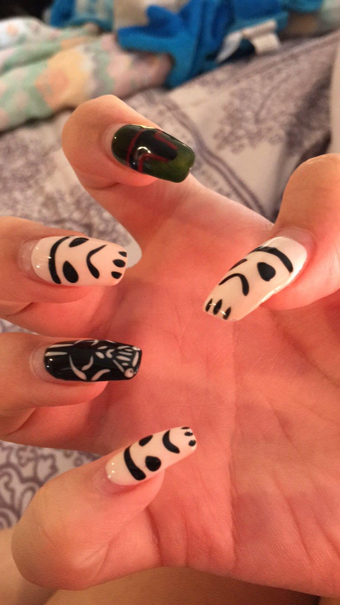 Star Wars Nail Art, Storm Trooper, Darth Vader, Boba Fett | Nails ...