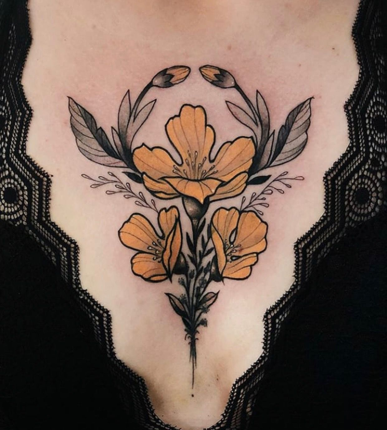 Pin By Devon Wallace On Tat Tews In 2020 Tattoos Chest Tattoo Flowers Sleeve Tattoos