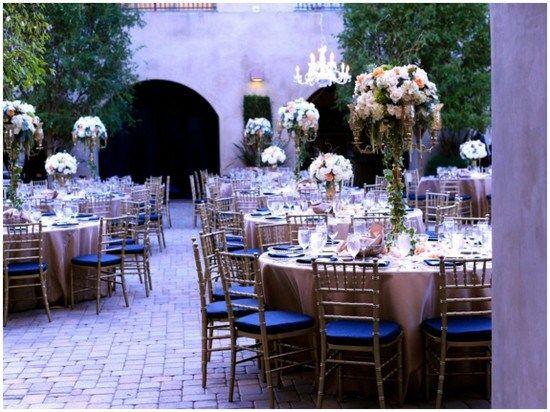 Navy And Lilac Wedding Reception Via Vivoevents