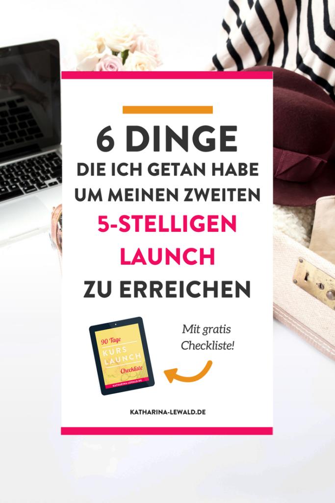 Launch Zusammenfassung 6 Dinge Die Ich Getan Habe Um Meinen