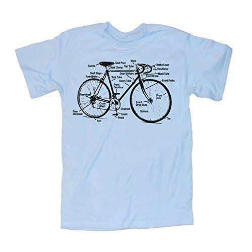 Happy Family Retro Racing Bike Diagram Mens T-Shirt (Medi…