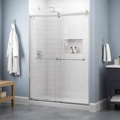Delta Lyndall 60 X 71 In Frameless Contemporary Sliding Shower