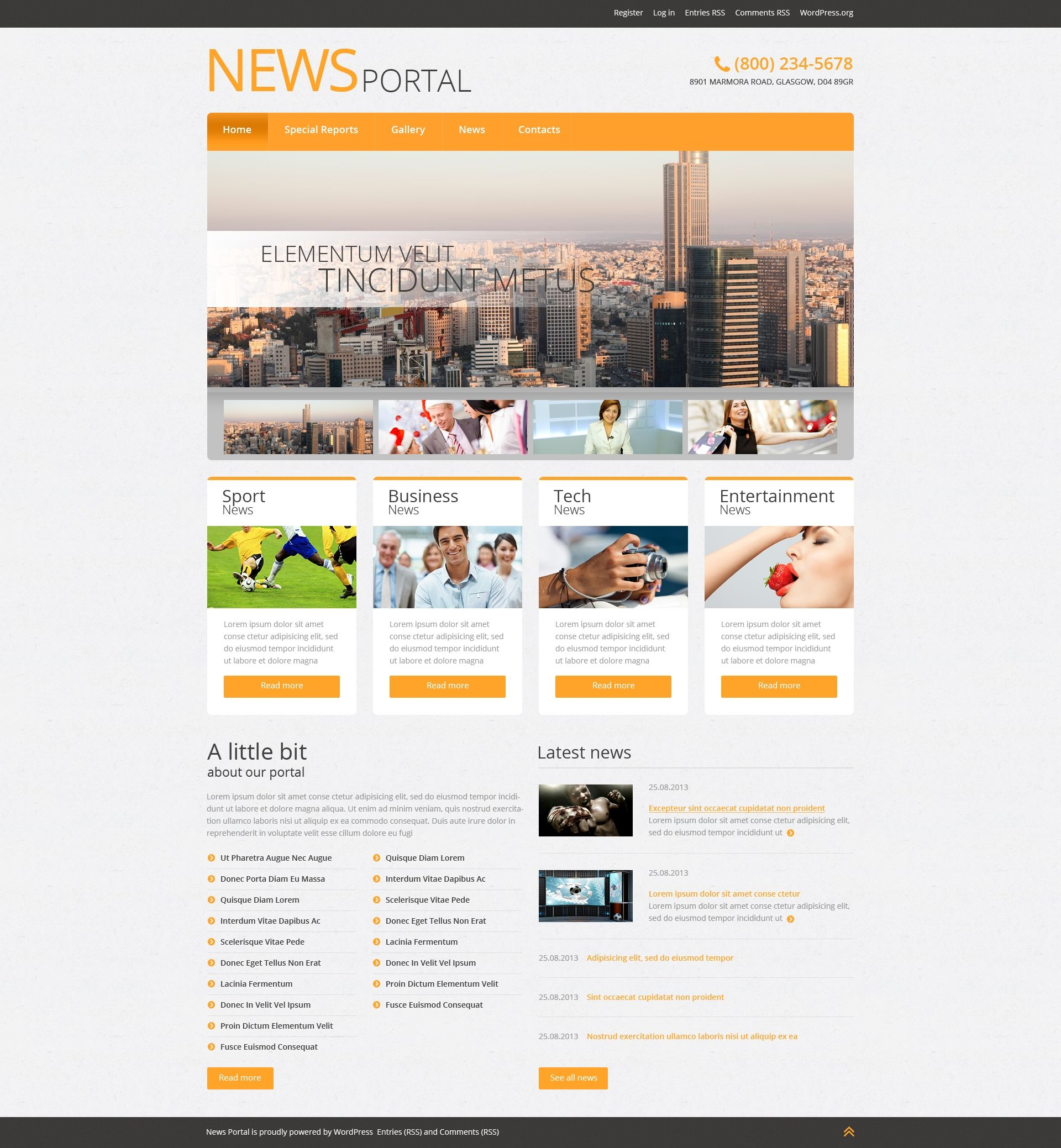 News Portal  Wordpress Theme  Wordpress Template