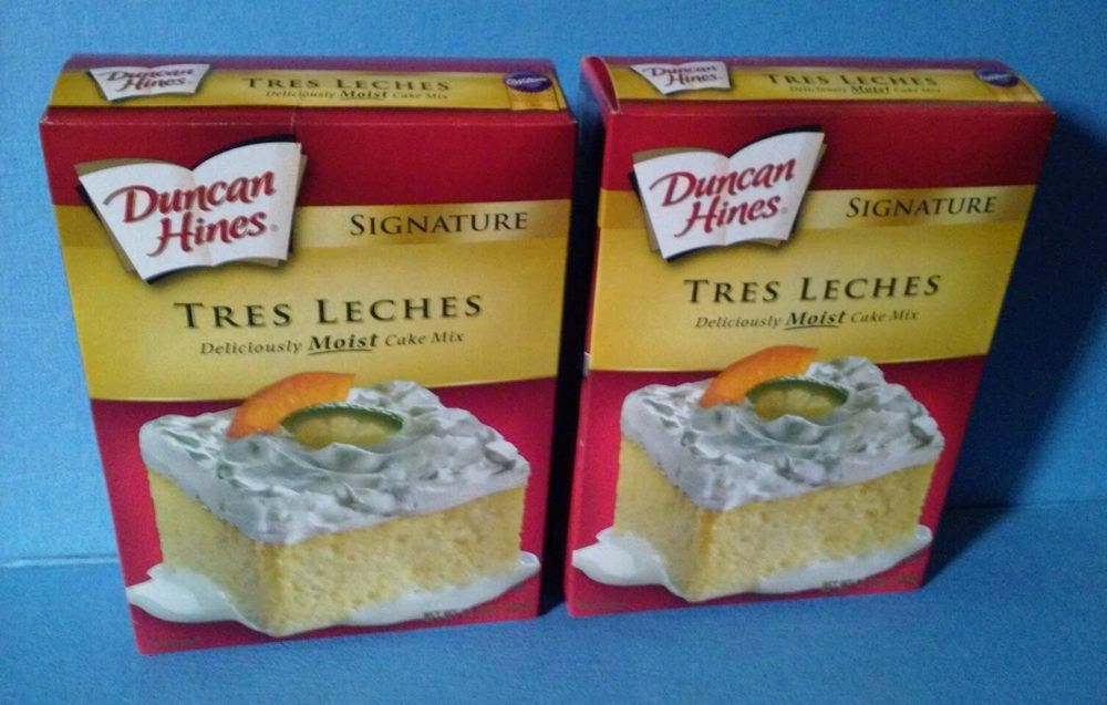 Duncan Hines Signature Tres Leches Cake Mix Two 2 Boxes