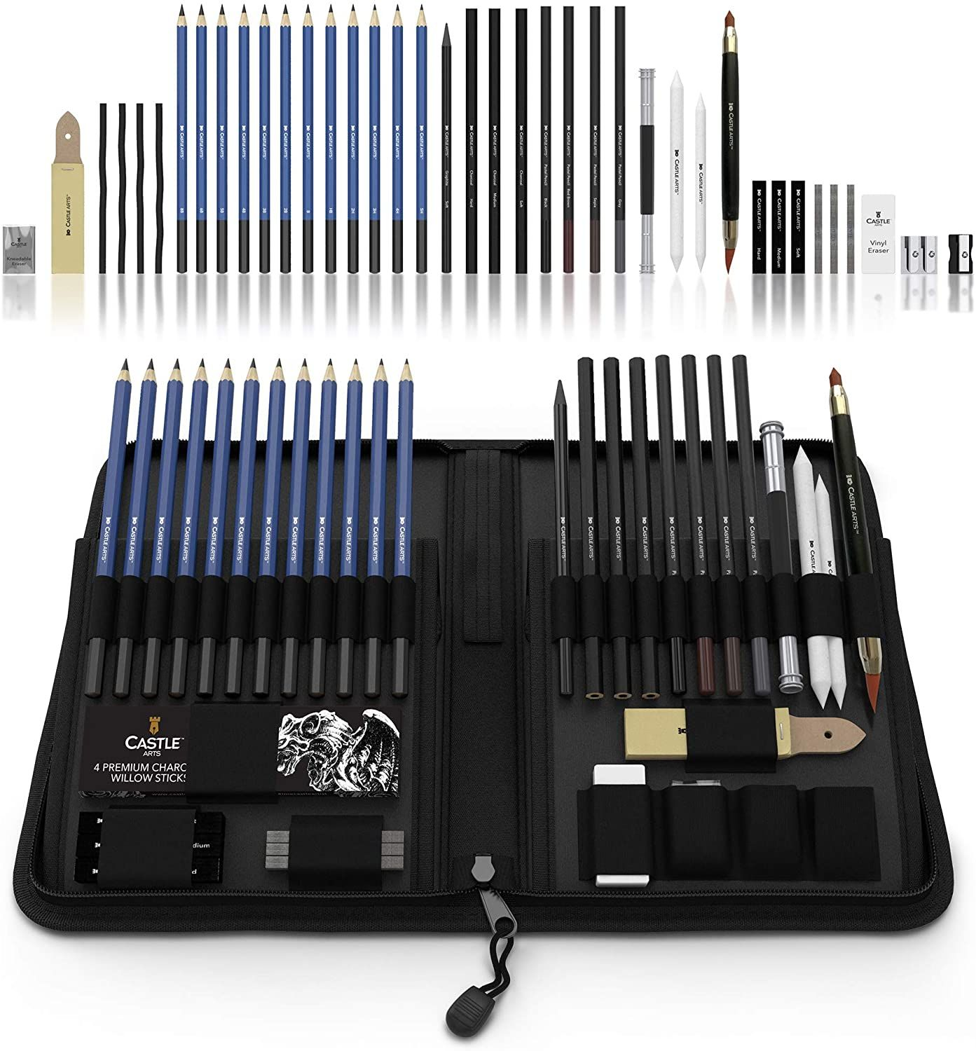 Drawing Pencils and Sketch Set (40Piece Kit), Complete