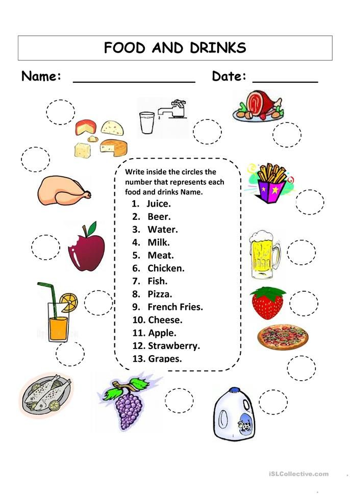food drinks worksheets esl matching printable drink activities vocabulary islcollective game worksheet foods activity english protein sheets fun ingles google