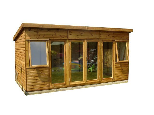 Garden Sheds 12x8 12x8 t&g summer house (modern) (wooden garden shed)(man cave) (log
