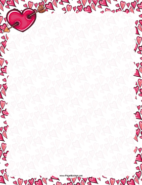 Celebrate Valentines Day with this printable romantic border
