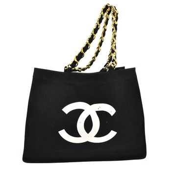 0492ef9d5919 Chanel Jumbo Cc Chain Tote Canvas Vintage France Shoulder Bag. Get ...