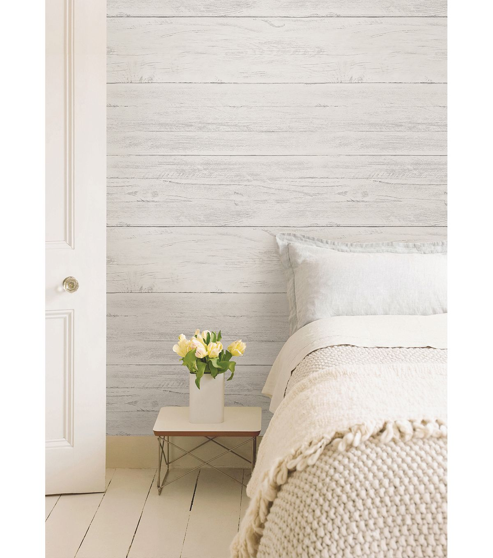 Wallpops Nuwallpaper Shiplap Peel And Stick Wallpapernull Home Contemporary Bedroom Interior
