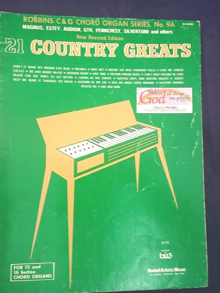 Robbins 21 Country Greats Organ Piano Electronic Keyboard
