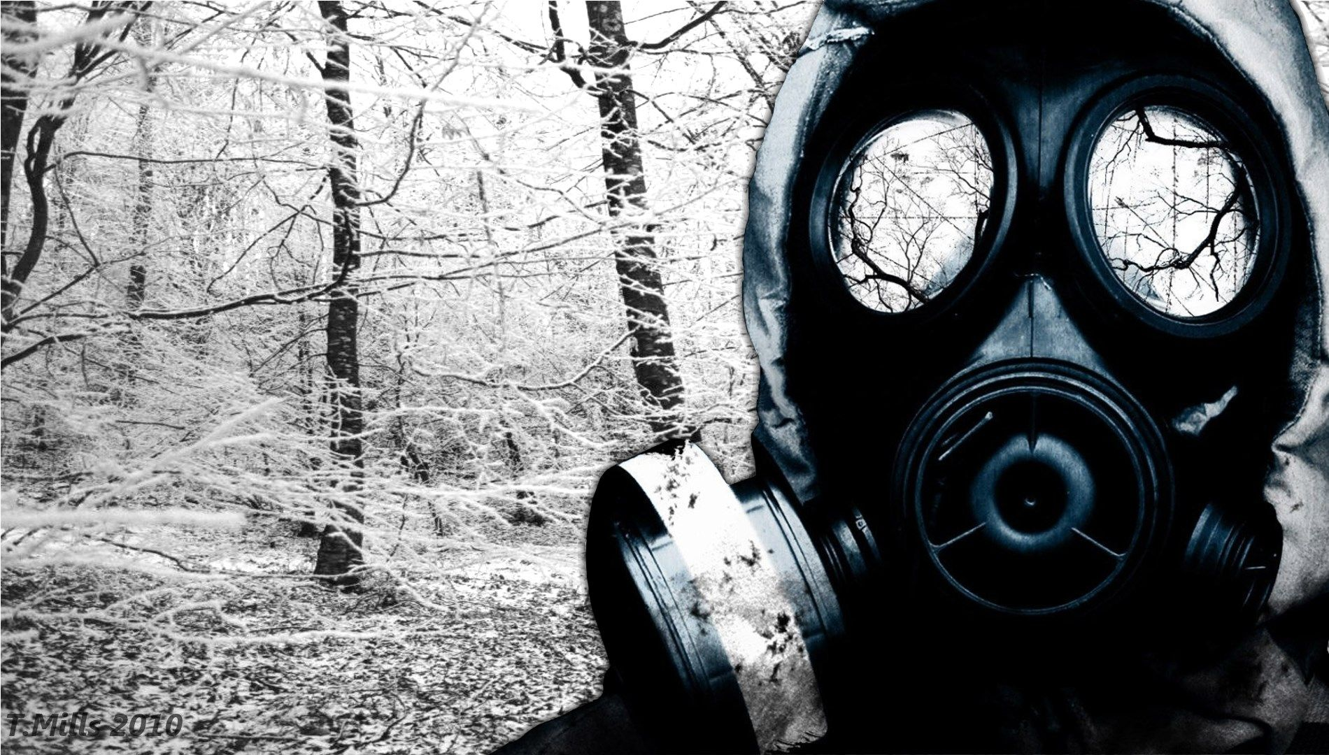 Gas Mask Wallpaper Background In 2019 Nuclear Winter