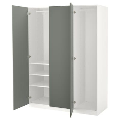 IKEA PAX White, Fardal HighGloss/white Wardrobe Pax