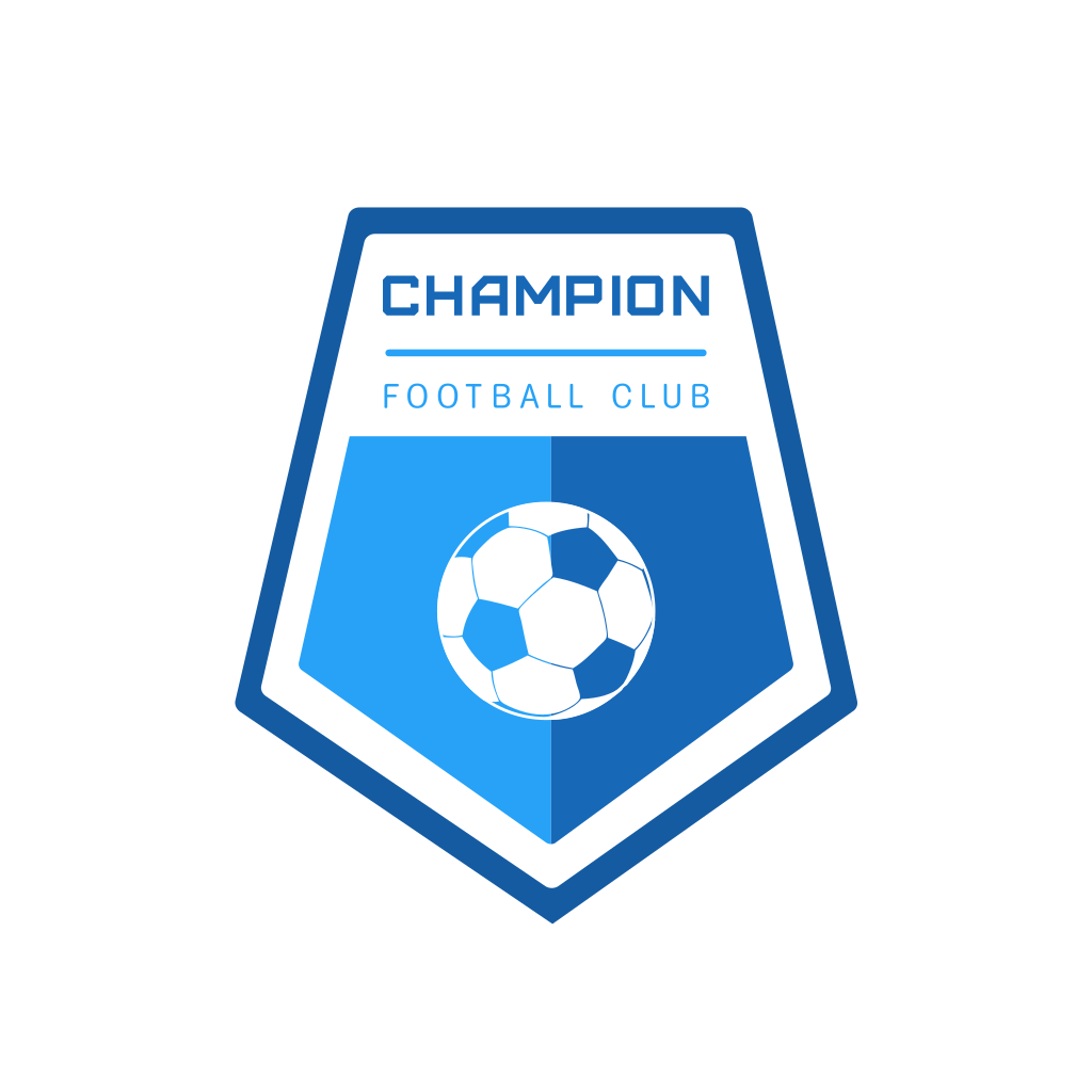 Champion Football Club Logo Football Logo Design Team Logo Design Sports Logo Design